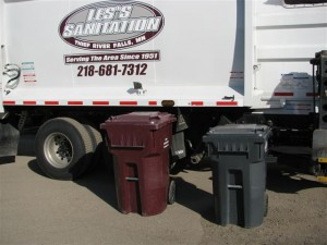 Residential garbage cans